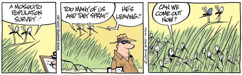 Swamp Cartoon - Mosquito Population ComicAugust 25, 2015