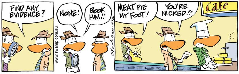 Swamp Cartoon - Meat Pie Evidence ComicAugust 27, 2015