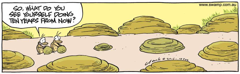 Swamp Cartoon - Dung Beetles Future ComicAugust 29, 2015