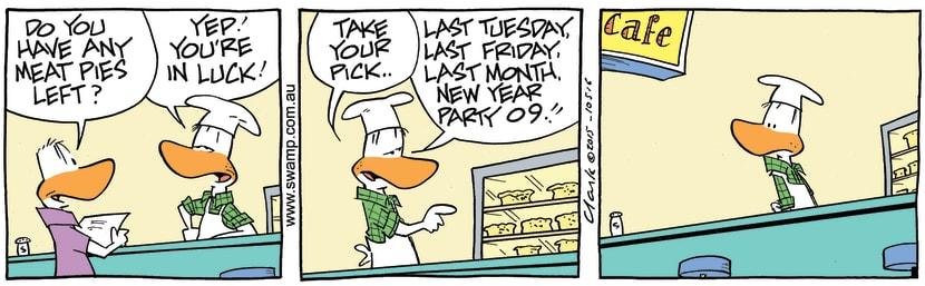 Swamp Cartoon - Swamp Chef Meat Pies ComicSeptember 12, 2015
