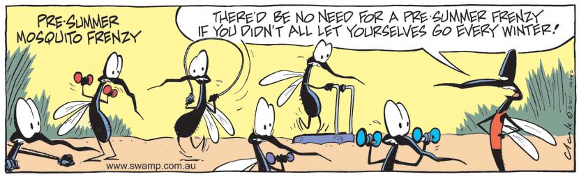 Swamp Cartoon - Pre-Summer Mosquito Frenzy ComicNovember 2, 2015