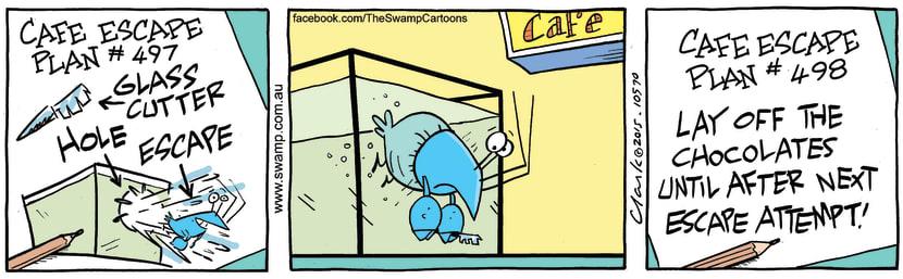 Swamp Cartoon - Bob Crayfish Chocolates ComicNovember 14, 2015