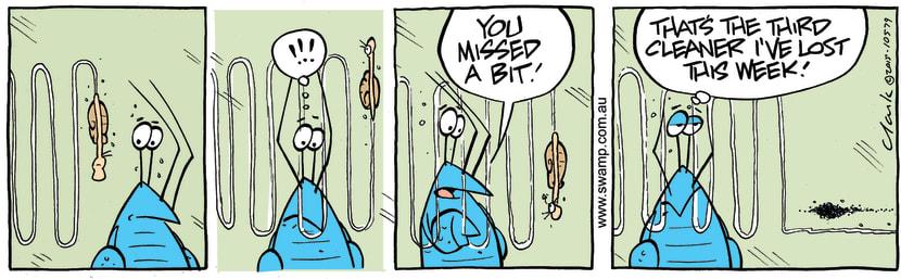 Swamp Cartoon - Bob Crayfish Cleaner ComicNovember 25, 2015