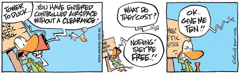 Swamp Cartoon - Air Traffic Control Clearance ComicNovember 26, 2015