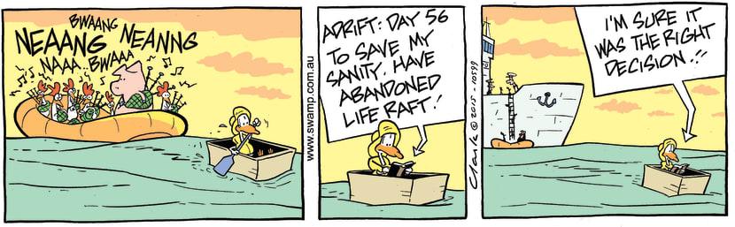 Swamp Cartoon - Lucky Mascot Right Decision ComicDecember 18, 2015