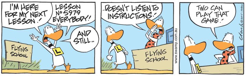 Swamp Cartoon - Ding Duck Lesson 5979 ComicDecember 19, 2015
