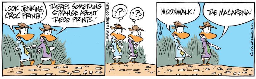 Swamp Cartoon - Poultry Squad Croc Prints ComicFebruary 18, 2016