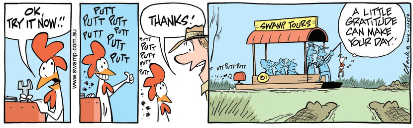 Swamp Cartoon - Croc Feeding Chicken ComicFebruary 19, 2016