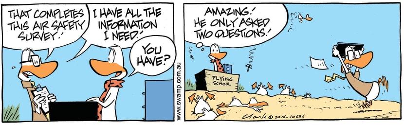 Swamp Cartoon - Air Safety Information ComicApril 11, 2016