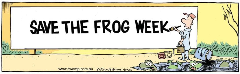Swamp Cartoon - Save the Frog Week ComicApril 20, 2016