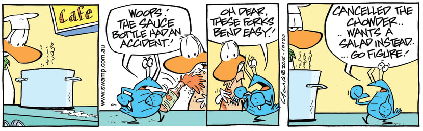 Swamp Cartoon - Bob Crayfish Sauce ComicMay 7, 2016