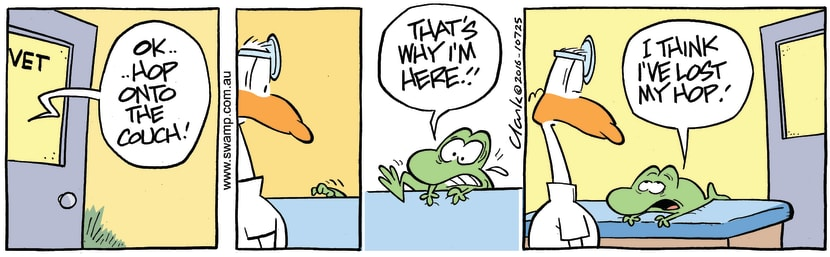 Swamp Cartoon - Mort Frog Vet ComicMay 13, 2016