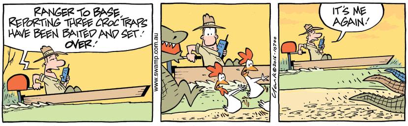Swamp Cartoon - Ranger Crocodile TrapsMay 31, 2016
