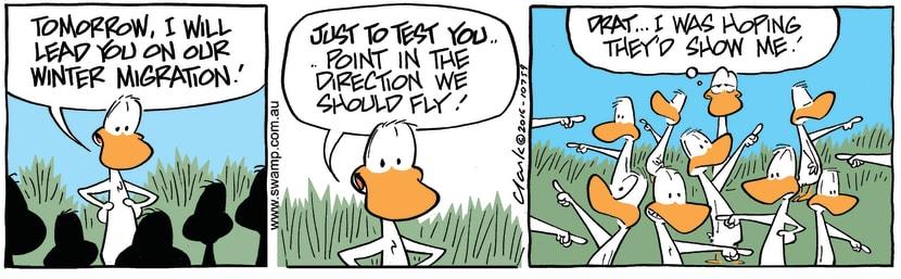 Swamp Cartoon - Ducks Winter Migration ComicJune 22, 2016
