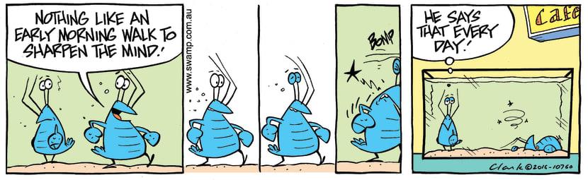 Swamp Cartoon - Bob Crayfish Walk ComicJune 23, 2016