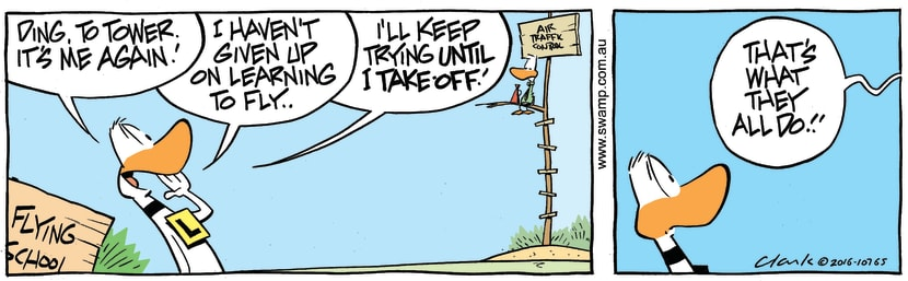 Swamp Cartoon - Ding Duck Tower AgainJune 29, 2016
