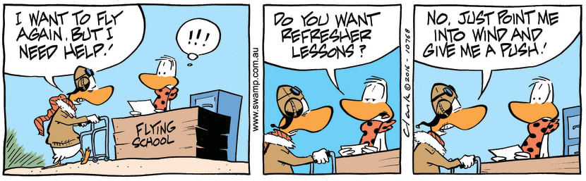 Swamp Cartoon - Vintage Bird ComicJuly 2, 2016