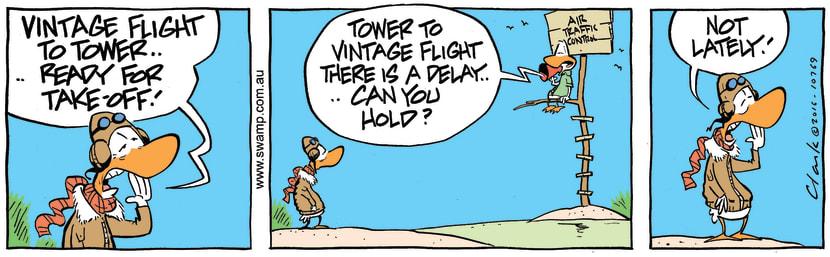 Swamp Cartoon - Vintage Flight Hold ComicJuly 4, 2016