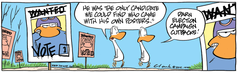 Swamp Cartoon - Swamp Election Posters ComicAugust 10, 2016