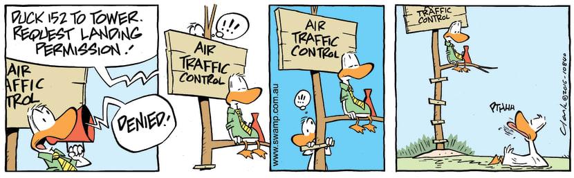 Swamp Cartoon - Air Traffic Controller Deny ComicSeptember 24, 2016