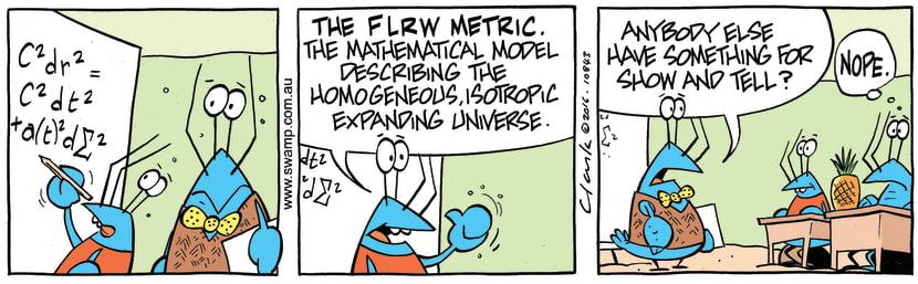 Swamp Cartoon - Crayfish Maths Problem ComicSeptember 28, 2016