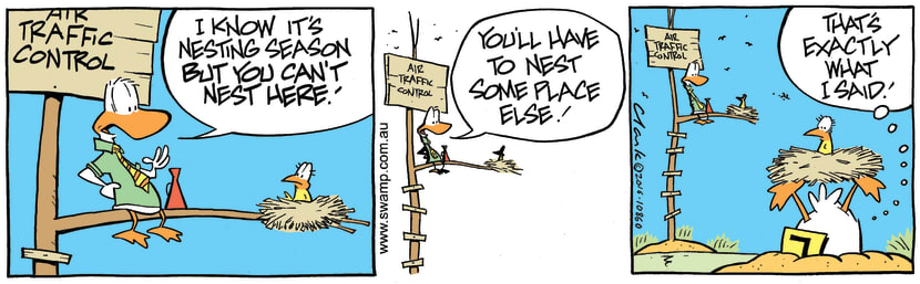 Swamp Cartoon - Air Traffic Control NestOctober 18, 2016