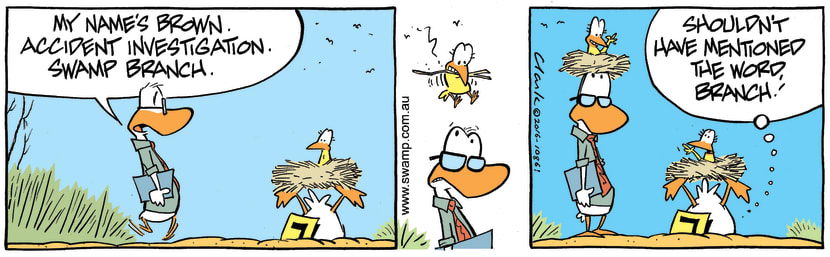 Swamp Cartoon - Swamp Accident Investigation ComicOctober 19, 2016