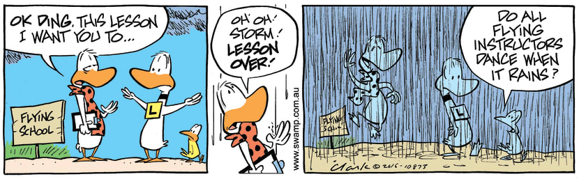 Swamp Cartoon - Flight Instructor Happy ComicNovember 1, 2016