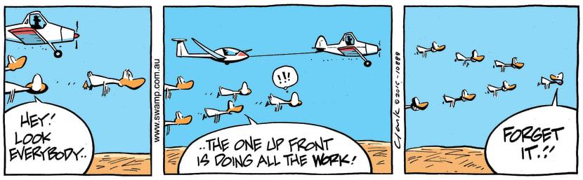 Swamp Cartoon - Tow Plane Glider ComicNovember 19, 2016