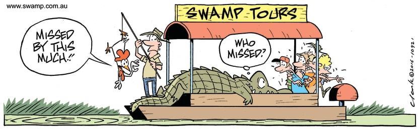 Swamp Cartoon - Snapper Croc LunchDecember 28, 2016