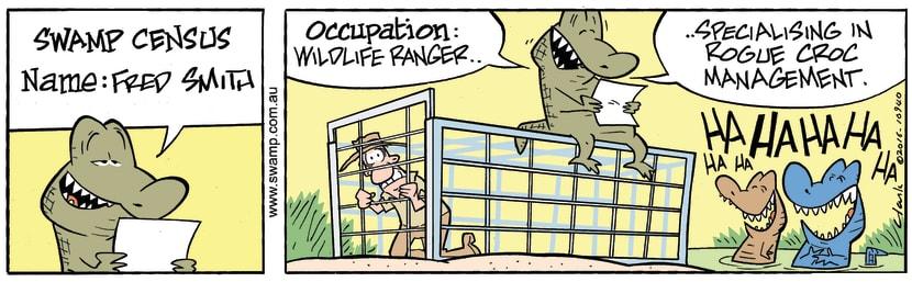 Swamp Cartoon - Swamp Census Rogue Crocs ComicJanuary 19, 2017