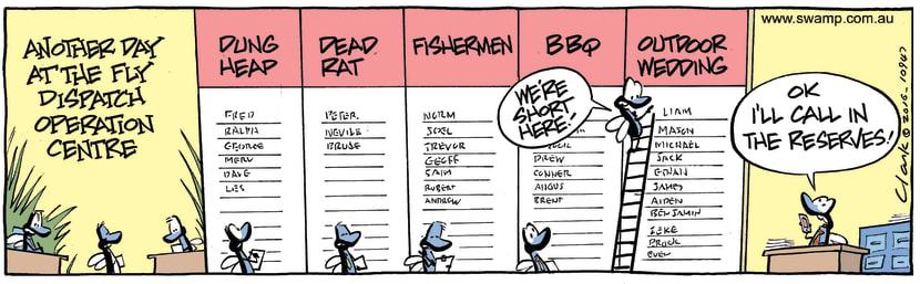 Swamp Cartoon - Fly Dispatch Centre ComicJanuary 28, 2017