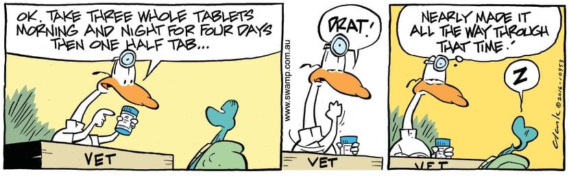 Swamp Cartoon - Swamp Vet Tablets ComicFebruary 4, 2017
