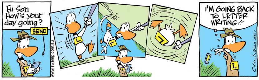 Swamp Cartoon - Ding Duck Selfie CrashFebruary 9, 2017