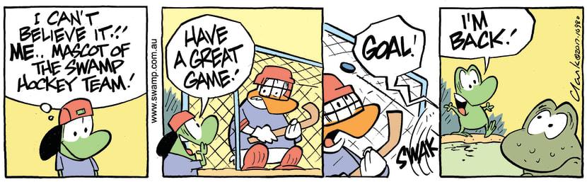Swamp Cartoon - Mort Frog Mascot Fail ComicMarch 8, 2017