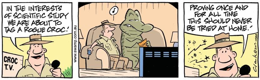 Swamp Cartoon - Tag Rogue Croc ComicMarch 18, 2017
