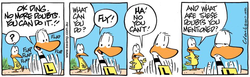 Swamp Cartoon - Ding Duck Doubts ComicMarch 21, 2017