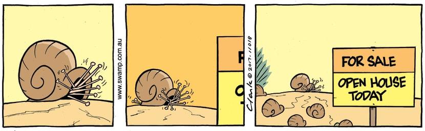 Swamp Cartoon - Swamp Snail Open House ComicApril 21, 2017