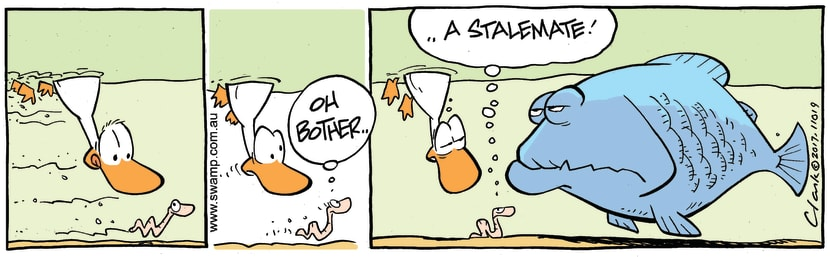 Swamp Cartoon - Worm Stalemate ComicApril 22, 2017