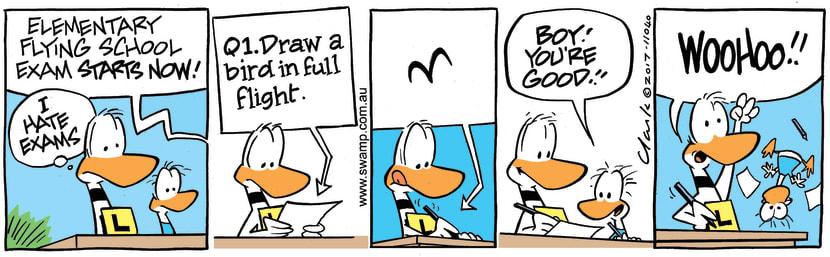 Swamp Cartoon - Ding Duck Full Flight ComicMay 17, 2017