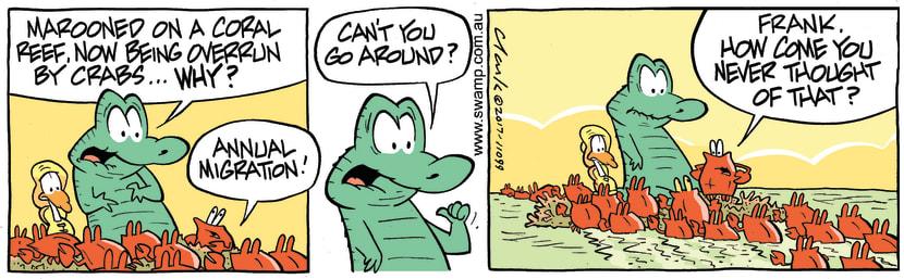 Swamp Cartoon - Old Man Croc Around ComicJuly 25, 2017