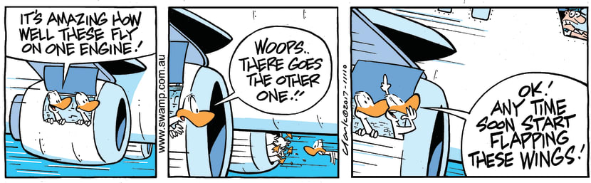 Swamp Cartoon - Flapping Wings ComicAugust 5, 2017