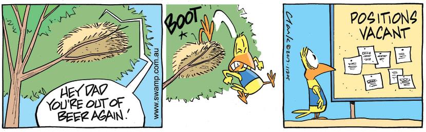 Swamp Cartoon - No Beer ComicNovember 25, 2017