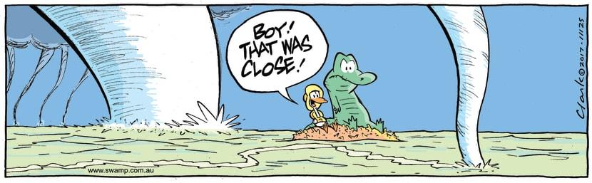 Swamp Cartoon - Old Man Croc Tornado ComicDecember 19, 2017