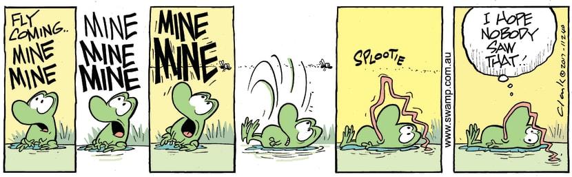 Swamp Cartoon - Mort Frog Fail ComicJanuary 6, 2018