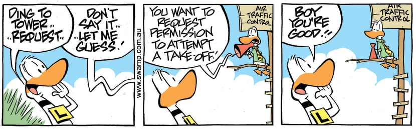 Swamp Cartoon - Air Traffic Control Guess ComicFebruary 1, 2018