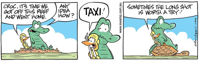 Swamp Cartoon - Old Man Croc Taxi ComicFebruary 7, 2018