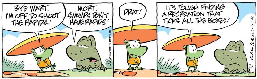 Swamp Cartoon - Mort Frog Rapids ComicFebruary 10, 2018