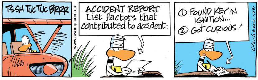 Swamp Cartoon - Ding Duck Curious ComicFebruary 24, 2018