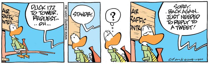 Swamp Cartoon - Air Traffic Control Tweet ComicMarch 19, 2018